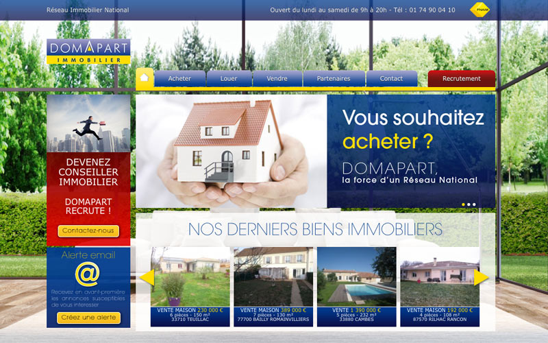 Boutique Prestashop catalogue immobilier